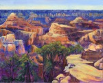 """Canyon Path"" by Christina Madden-Multimedia Artist. Acrylic 16"" x 20"", On Gallery Wrap Canvas"
