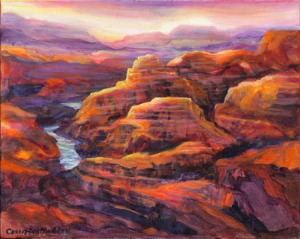Canyon Sunset by CHRISTINA MADDEN  Framed Canvas Art