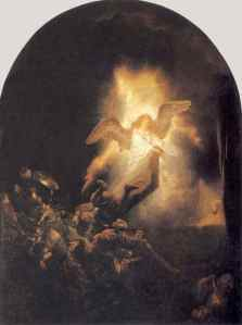 The Resurrection by  Rembrandt van Rijn