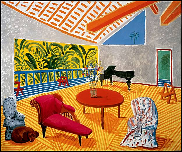 Interior with Sun and Dog by David Hockney