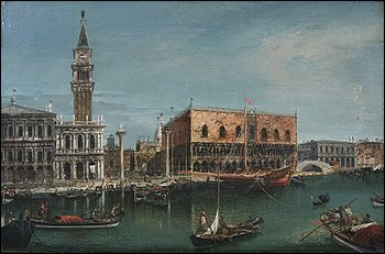 An 18th-century Grand Canal painting, which was found in a local home, fetched $687,125. (Photo By Brian Searby -- Sloans & Kenyon)