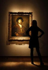 Shining light … Rembrandt's Portrait of a Man, Half-Length, With His Arms Akimbo . Photo: Reuters