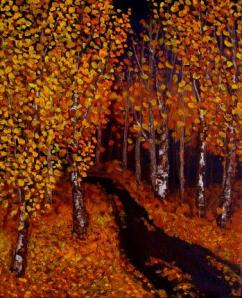 Aspen Trails Twilight by Wanda Pepin