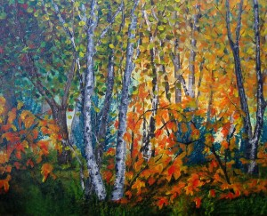 Traditional Autumn Landscape by Wanda Pepin
